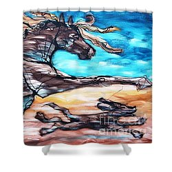 Bhound To Get There Shower Curtain
