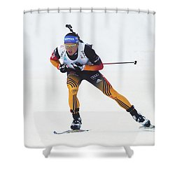 biathlete Erik Lesser Germany Shower Curtain