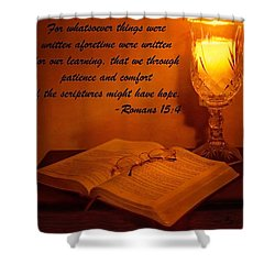 Bible By Candlelight Shower Curtain