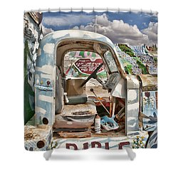 Bible Truck Shower Curtain by Hugh Smith