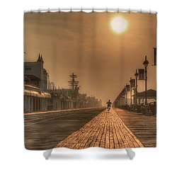 Bicycle Boardwalk Shower Curtain