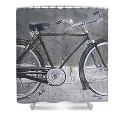 Bicycle In Rome Shower Curtain by Claudia Goodell