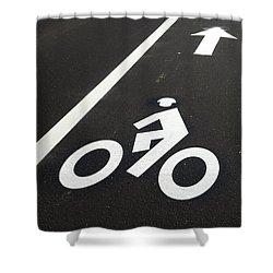 Bicycle Lane Shower Curtain
