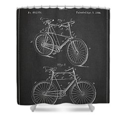 Bicycle Patent Shower Curtain by Aged Pixel