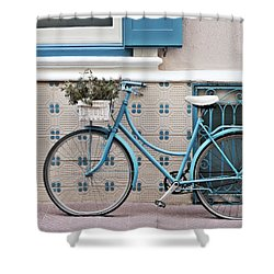Vintage Bicycle Photography - Bicycles Are Not Only For Summer Shower Curtain