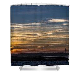 Biddeford Pool Maine Sunset Shower Curtain