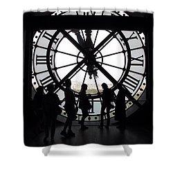 Biding Time Shower Curtain by Mary Ellen Mueller Legault