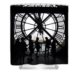 Biding Time Shower Curtain