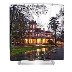 Bidwell Mansion In The Rain  Shower Curtain