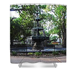 Bienville Fountain Mobile Alabama Shower Curtain