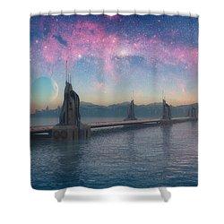 Bifrost Bridge Shower Curtain by Cynthia Decker