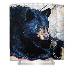 Big B And Little Bee Shower Curtain