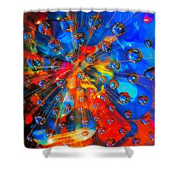 Big Bang Shower Curtain by Rick Mosher