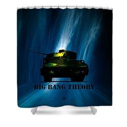 Big Bang Theory Shower Curtain by Bob Orsillo