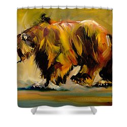 Big Bear Walking Shower Curtain