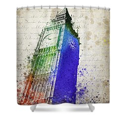Big Ben Shower Curtain by Aged Pixel