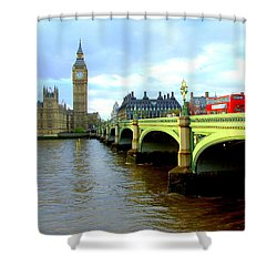 Big Ben And River Thames Shower Curtain