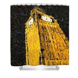 Big Ben At Night Shower Curtain