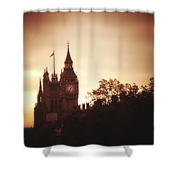 Big Ben In Sepia Shower Curtain