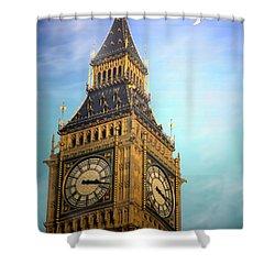 Big Ben Shower Curtain by Joyce Dickens