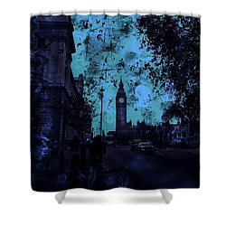 Big Ben Street Shower Curtain