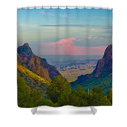 Big Bend Texas From The Chisos Mountain Lodge Shower Curtain
