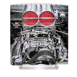 Big Big Block V8 Motor Shower Curtain