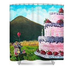 Big Birthday Surprise Shower Curtain