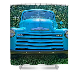Shower Curtain featuring the photograph Big Blue by Chris Fraser