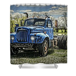 Big Blue Mack Shower Curtain