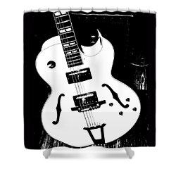 Big Ol Gibson Shower Curtain by Chris Berry