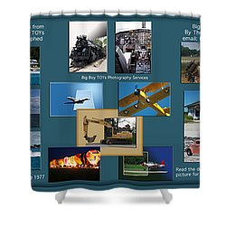Big Boy Toys Photography Services Shower Curtain by Thomas Woolworth
