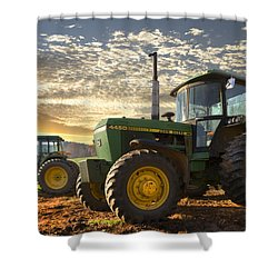 Big Boys' Toys Shower Curtain by Debra and Dave Vanderlaan