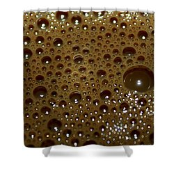 Shower Curtain featuring the photograph Big Bubble - Coffee  by Ramabhadran Thirupattur
