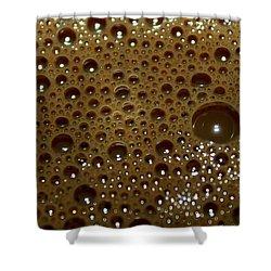 Big Bubble - Coffee  Shower Curtain by Ramabhadran Thirupattur