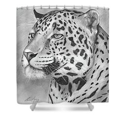Big Cat Shower Curtain by Lena Auxier