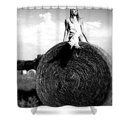 Big Dreams Bw Shower Curtain