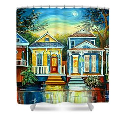 Big Easy Moon Shower Curtain by Diane Millsap