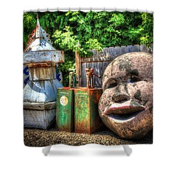 Big Face Shower Curtain by Ray Congrove
