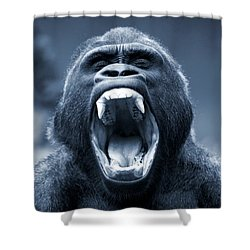 Big Gorilla Yawn Shower Curtain