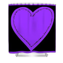 Big Heart 4 Purple Shower Curtain by Marianne Campolongo