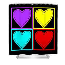 Big Hearts I Shower Curtain by Marianne Campolongo