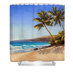 Hawaiian Beach Seascape - Big Island Getaway  Shower Curtain