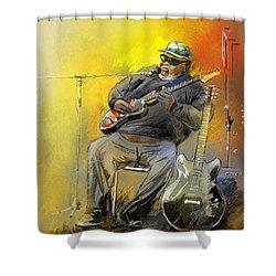 Big Jerry In Memphis Shower Curtain by Miki De Goodaboom