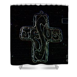 Shower Curtain featuring the photograph Big Jesus by Tina M Wenger