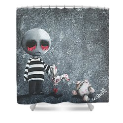 Big Juicy Tears Of Blood And Pain 9 Shower Curtain
