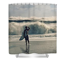 Big Kahuna Shower Curtain by Laura Fasulo