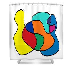 Big Left Hook Shower Curtain by Jeff Gater