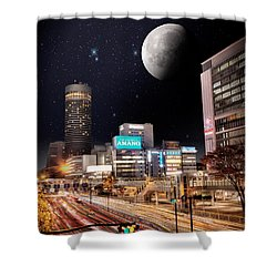 Big Moon Yokohama Shower Curtain