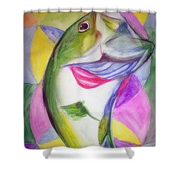 Big Mouth Bass Shower Curtain
